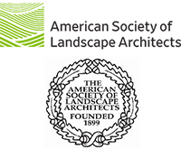 Logos of the American Society of Landscape Architects and the ASLA Council of Fellows