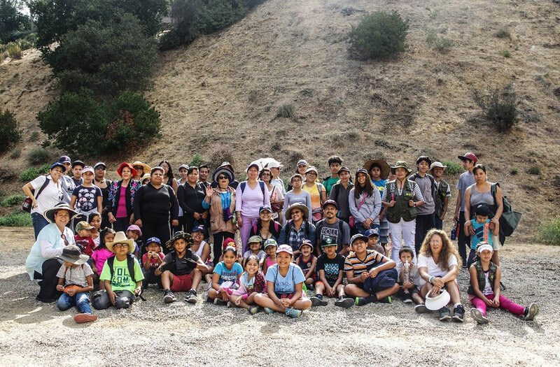 de la Cruz's family hike in the Santa Monica Mountains