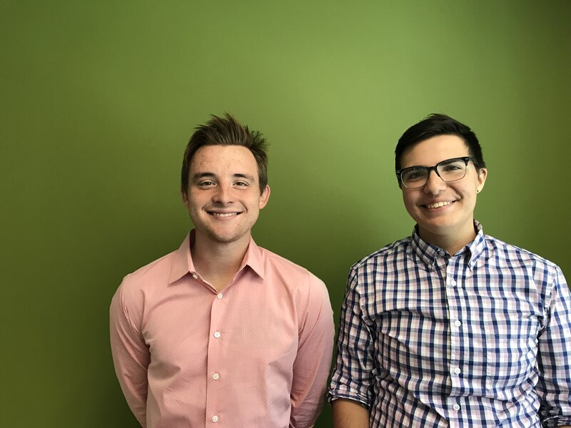 A portrait of LAF employees Devin McCue and Rory Doehring