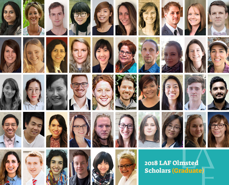 2018 LAF Olmsted Scholars (graduate)