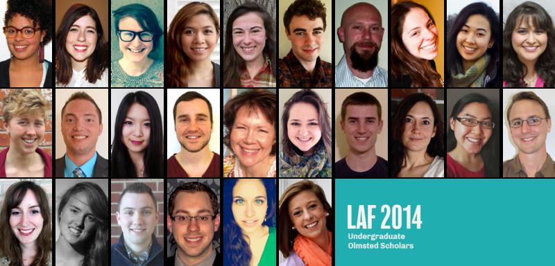 LAF 2014 Undergraduate Olmsted Scholars