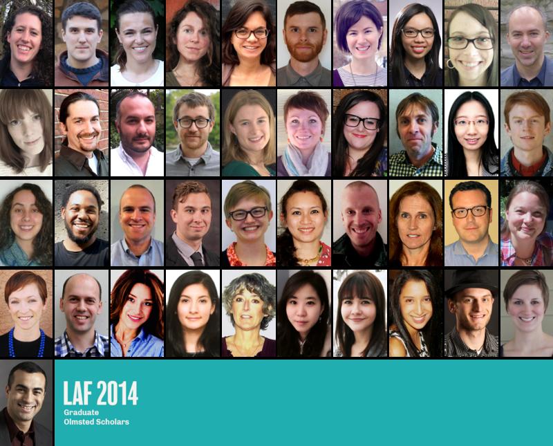LAF 2014 Graduate Olmsted Scholars