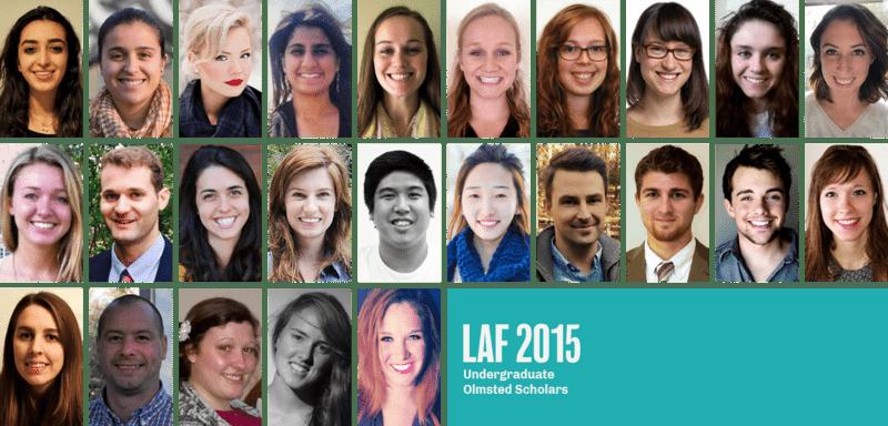 2015 LAF Undergraduate Olmsted Scholars