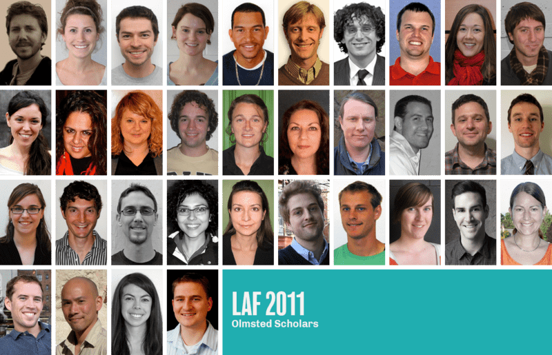 The 2011 LAF Olmsted Scholars