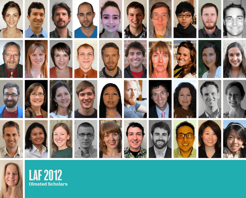 The 2012 LAF Olmsted Scholars
