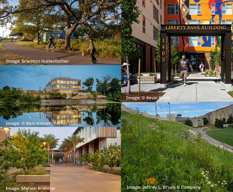 A collage of five projects selected for the 2020 CSI program