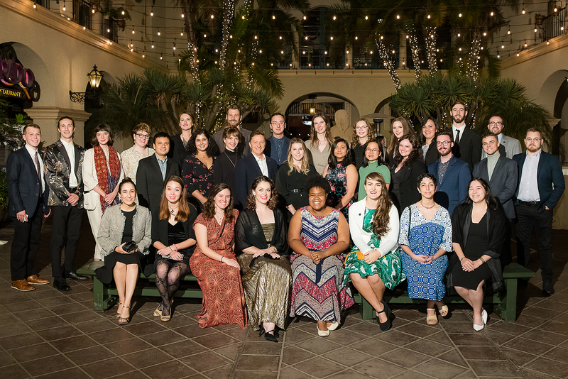 The 2019 LAF Olmsted Scholars in attendance at LAF's 34th Annual Benefit in San Diego