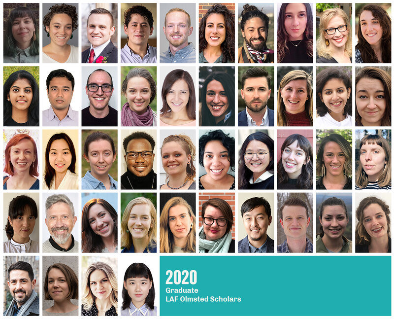 Grid of headshots of the 2020 Graduate LAF Olmsted Scholars
