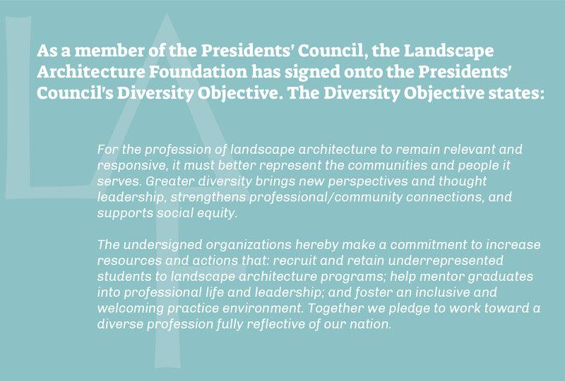President's Council Diversity Objective excerpt