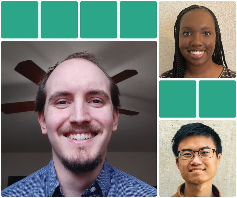 Headshots of the 3 inaugural Zwier/Permaloc scholarhip winners