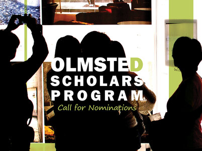 LAF Olmsted Scholars Program Call for Nominations graphic