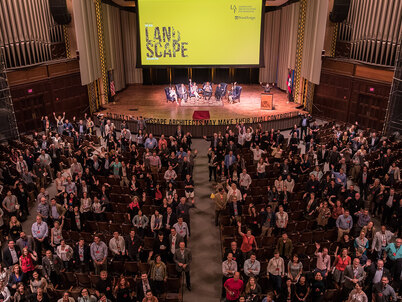 The audience at LAF's 2016 Summit on Landscape Architecture and the Future