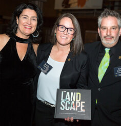 LAF CEO Barbara Deutsch with outgoing President Jennifer Guthrie and incoming President Adam Greenspan