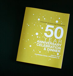 A program from LAF's 50th anniversary celebration
