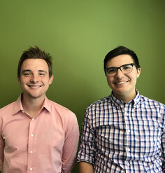 New LAF employees Devin McCue and Rory Doehring