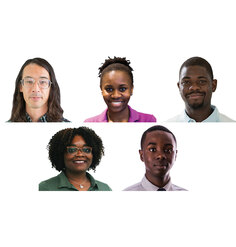The five winners of SmithGroup's inaugural Equity, Diversity, and Inclusion Scholarship