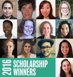 A collage of the winners of LAF's 2016 scholarships