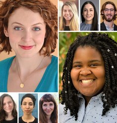 Headshots of the 2 LAF Olmsted Scholar winners and 6 Finalists