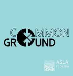 Common Ground conference logo centered on light blue background